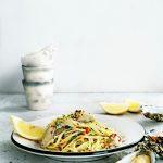 Pasta aglio-olio-peperoncino met oesters delicious.