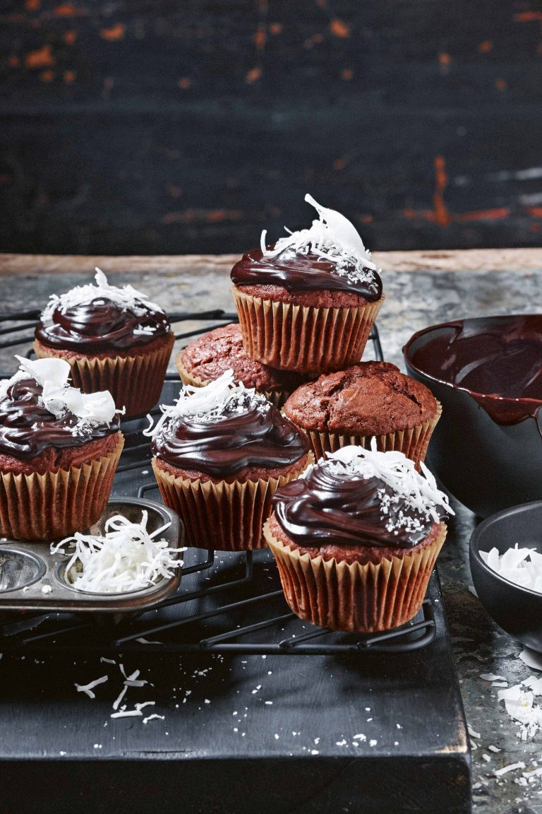 chocolade-kokosmuffins delicious.