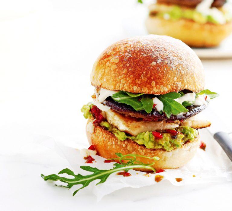 portobelloburgers met halloumi