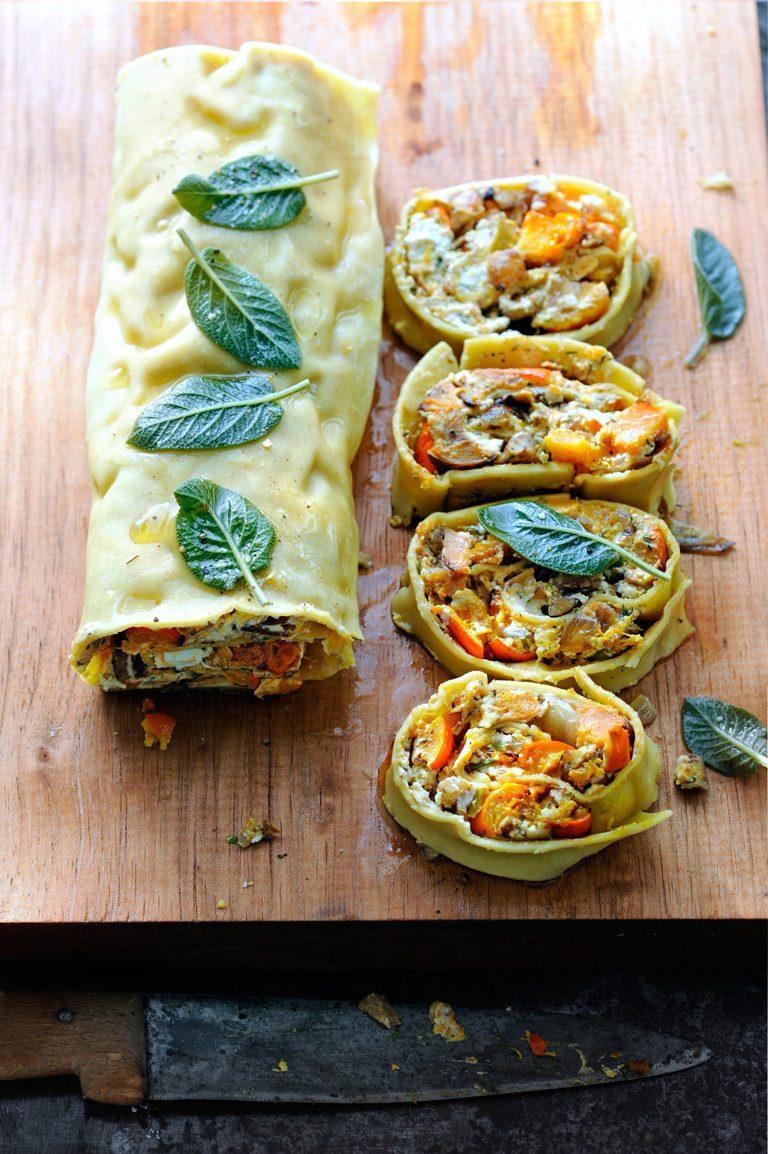 pastarol met pompoen en geitenkaas | delicious