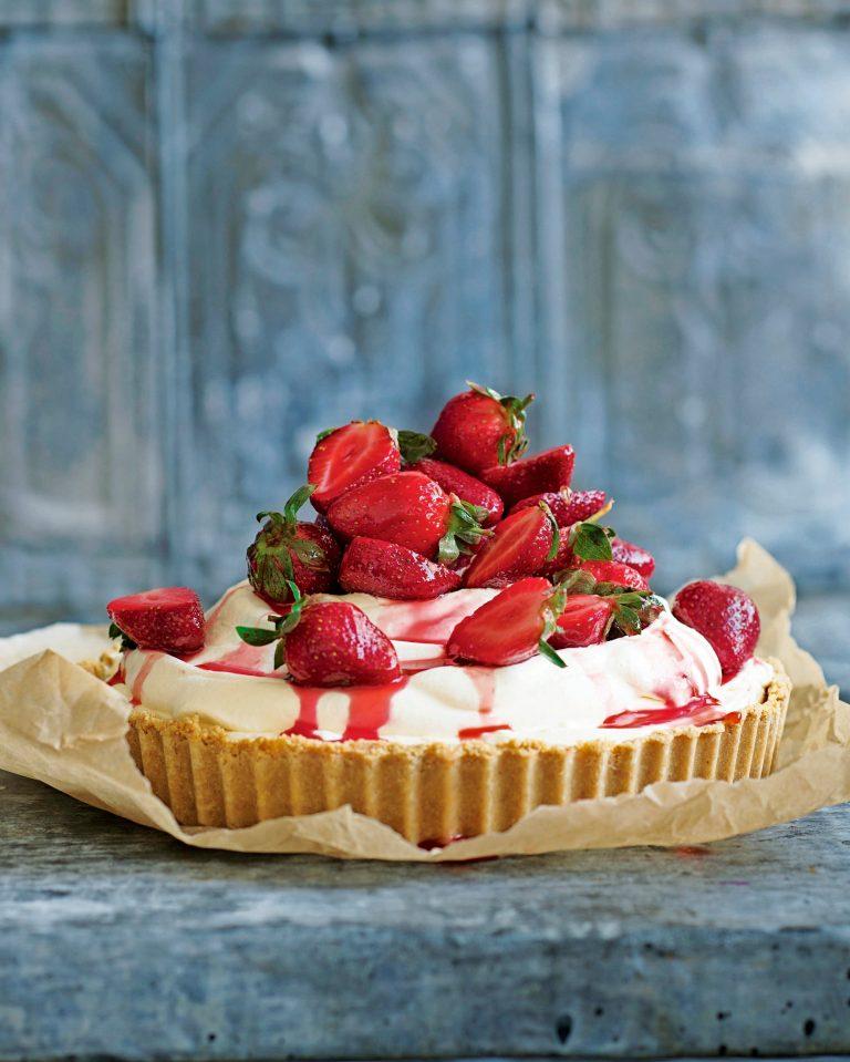 aardbeien-ijstaart - delicious