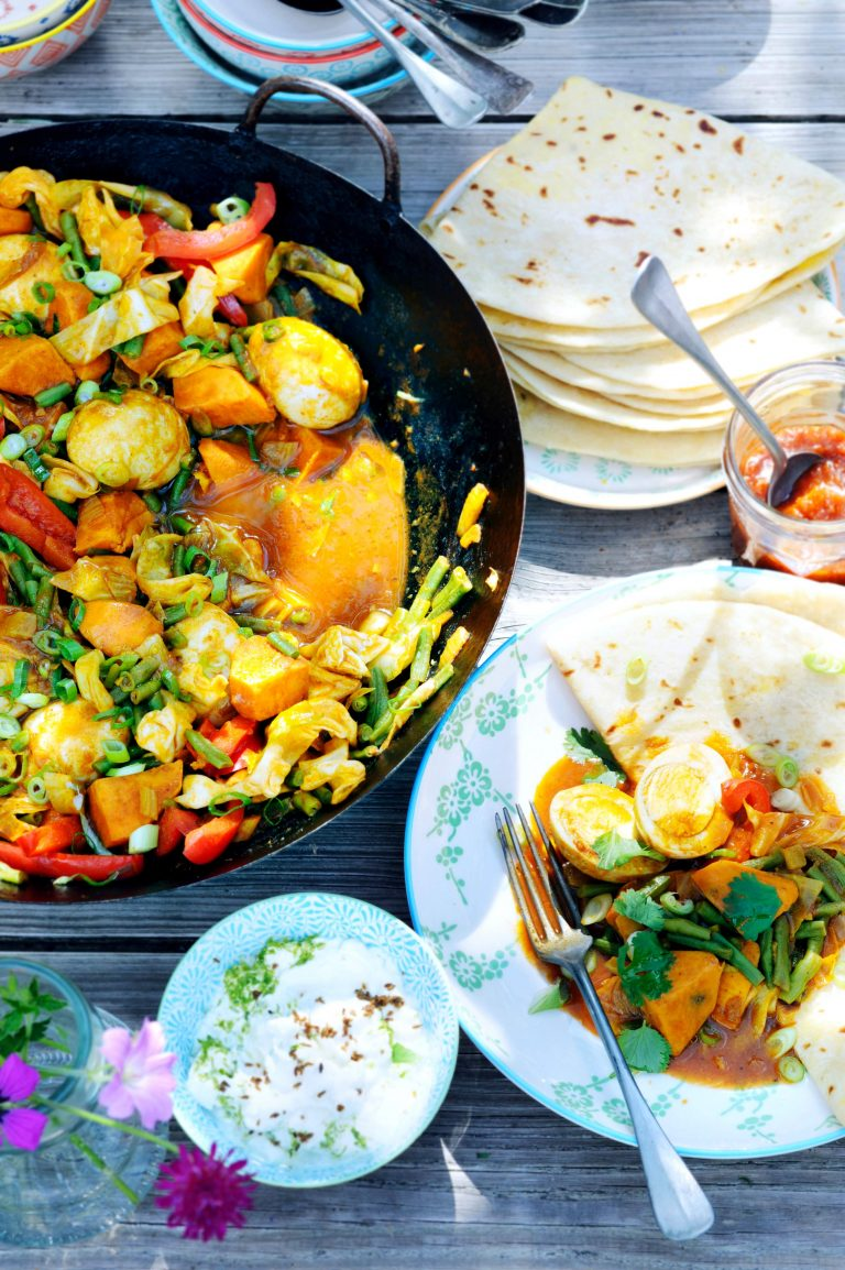 vega-roti met eieren - delicious