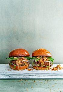Satéburger met sperziebonen - delicious