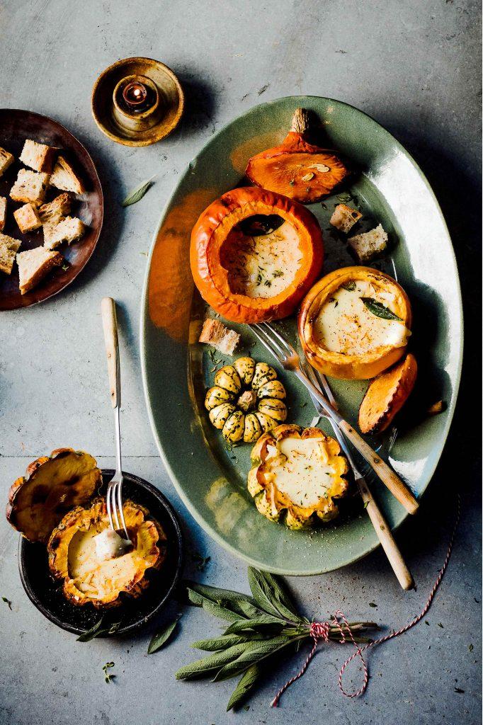 gevulde pompoen kaasfondue - delicious
