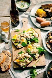 krab sandwich - mister kitchen - delicious