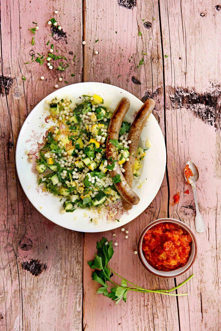 Merguez met peterselie-parelcouscous - delicious