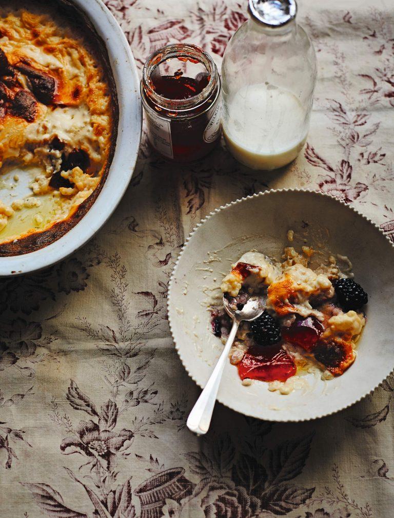 Rijstpudding met kweeperengelei & bramen - delicious