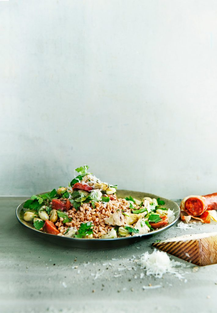 Tuinbonen met chorizo - delicious