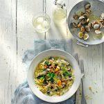 risotto zeewier kokkels mosselen - delicious