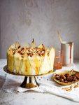 schuimtaart met pecannoten, peer en mascarpone - delicious