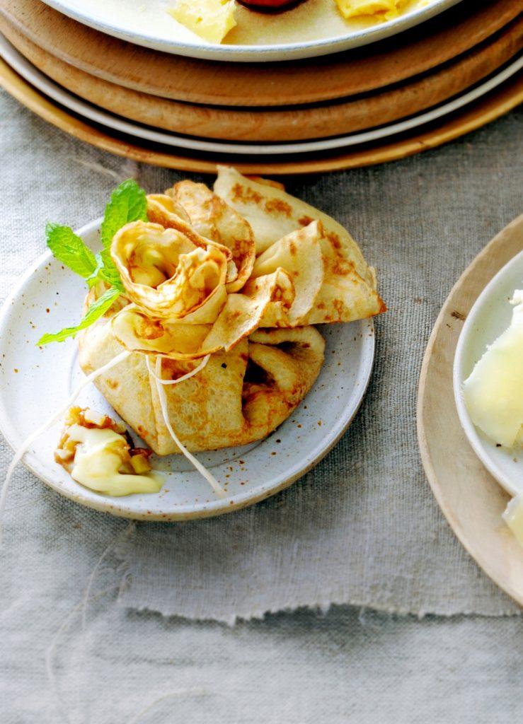crepe met epoisses en appel-venkelkaramel - delicious