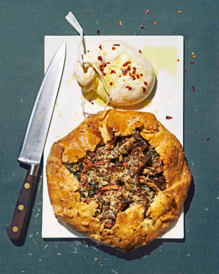 pompoengalette met burrata - delicious