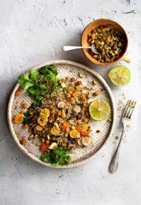 Quinoa met geroosterde wortel en pastinaak