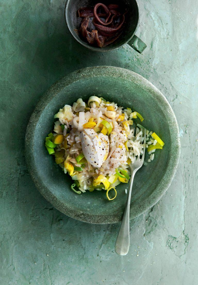 risotto met prei en ansjovis