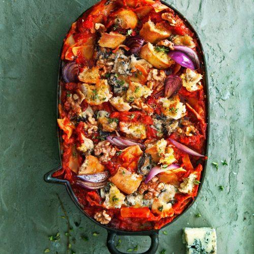 lasagne met gorgonzola - delicious