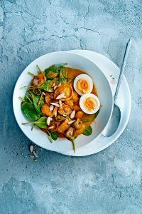 curry witte bonen en ei