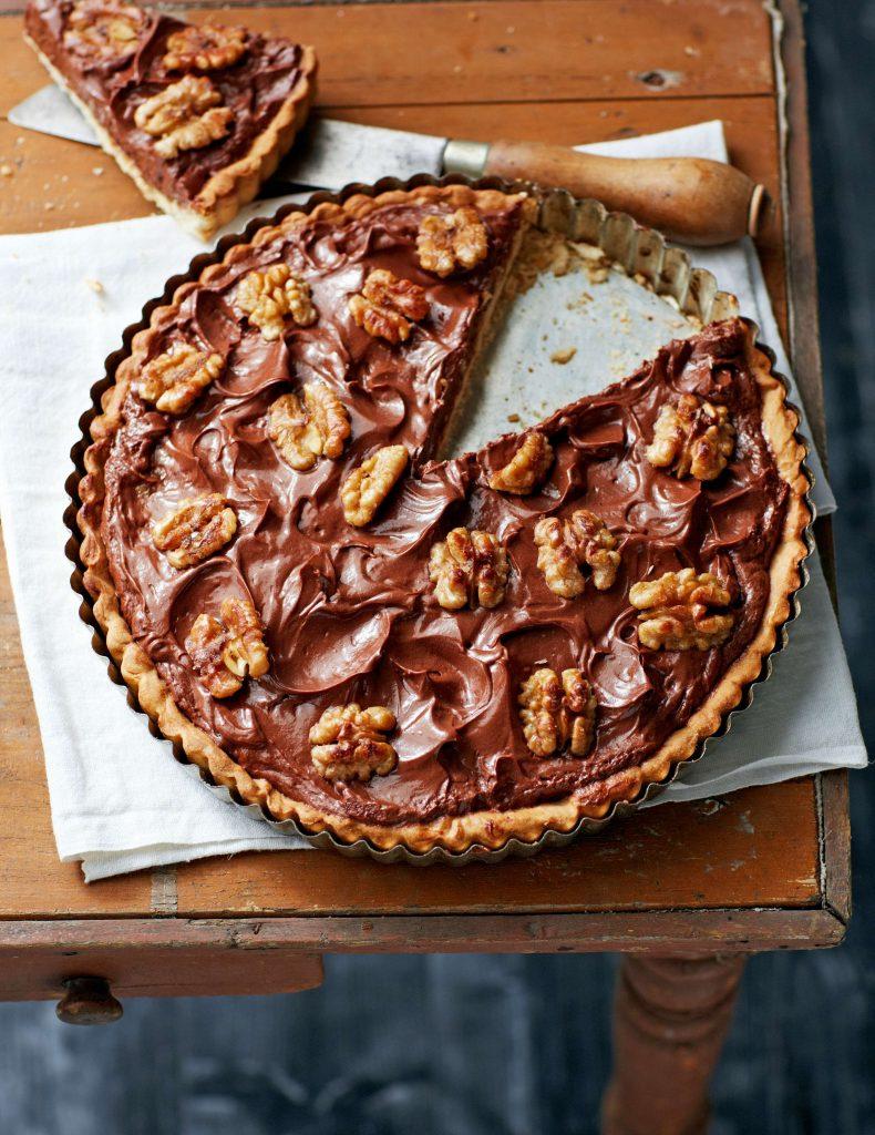 chocolade-walnoottaart - delicious