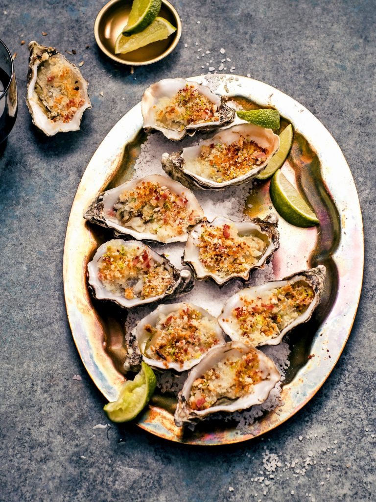 oesters met pancetta-limoenkruim - delicious