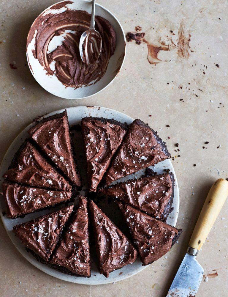 chocoladetaart met moscovadosuiker - delicious