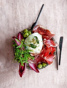 buffelmozzarella met coppa