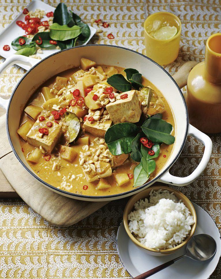 Massaman curry met tofoe