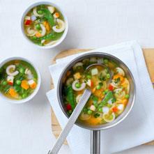 Lente minestronesoep