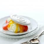 vanillemeringue met lemoncurd