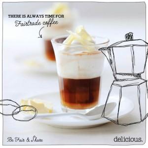Koffie met witte-chocoladeroom